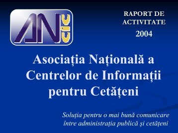 Raport de activitate pe 2004 - ANCIC