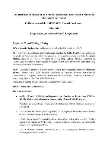 Télécharger le programme du colloque - Lille 3