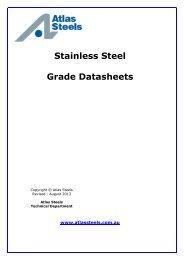 List of Datasheets - Atlas Steels