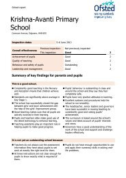 Download Our Latest Ofsted Report - Avanti Schools Trust