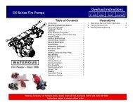 Sec. 4209, Overhaul Instructions - Waterous