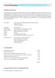 Mediadaten - Stubenhocker - Die Zeitung für Auslandsaufenthalte
