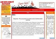 Edito Parti Communiste Français Fédération du Rhône