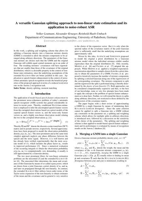 A versatile Gaussian splitting approach to non-linear state ...
