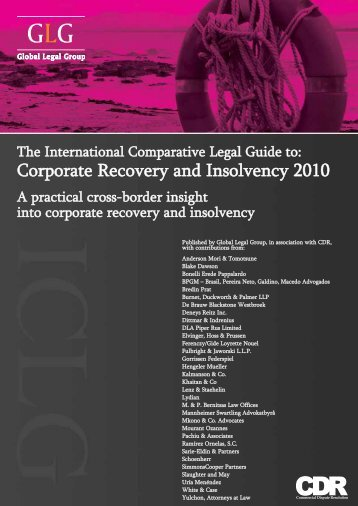 Corporate Recovery and Insolvency 2010