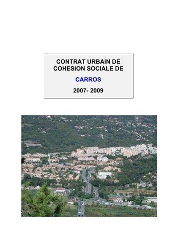 contrat urbain de cohesion sociale de carros 2007 ... - CRPV-PACA