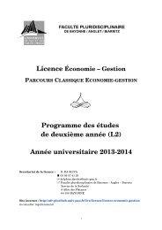 2013-2014 - UFR Pluridisciplinaire de Bayonne