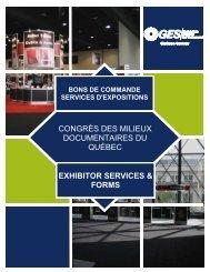 bons de commande services d'expositions - Congrès des milieux ...