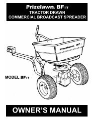 Prize Lawn Tractor Pull Spreader MSDS