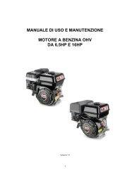 Motori MGF da 6.5 a 16 Hp - Manuale d'uso