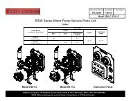 E500 Series Motor Pump Service Parts List - Waterous