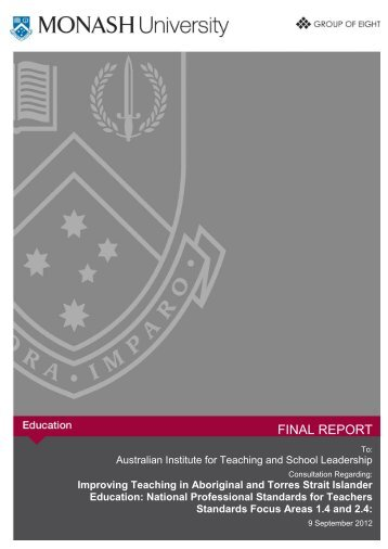 final report - Australian Institute for Teaching and School Leadership