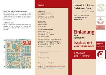 Einladung zum Symposium Dysplasie und Zervixkarzinom 5. Mai ...
