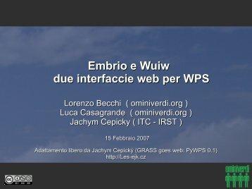 GRASS goes web - Ominiverdi.Org