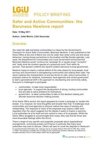 the Baroness Newlove report - LGiU
