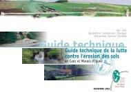 Guide technique de la lutte contre l'érosion des sols - GISER