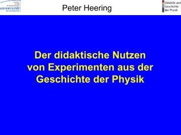 Der didaktische Nutzen von Experimenten aus der ... - der HTL Steyr