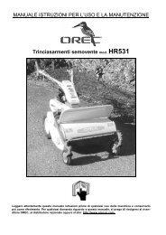 HR 531 B&S - Manuale d'uso - FIABA Srl
