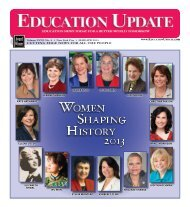WoMEn sHaping HistorY 2013 - Education Update