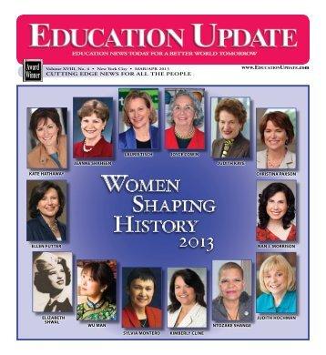 WoMEn sHaping HistorY 2013 - Education Update