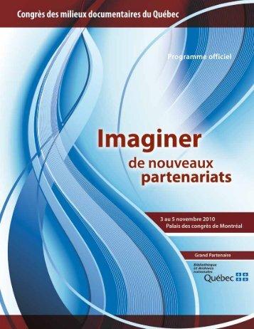 Final program - PDF - Congrès des milieux documentaires