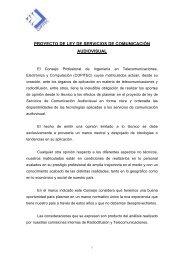 proyecto de ley de servicios de comunicacin audiovisual