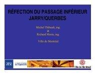 réfection du passage inférieur jarry/querbes - Université de ...