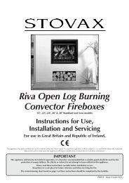 Riva Open Log Burning Convector Fireboxes - The Fire Basket