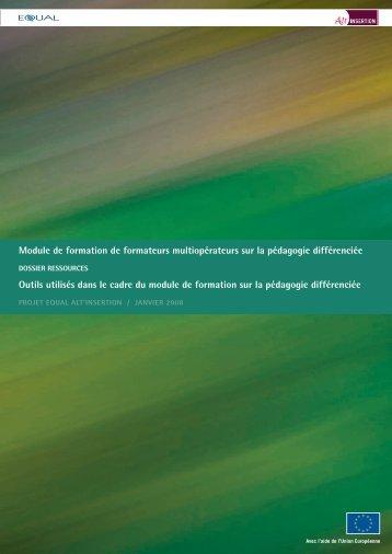 Dossier Ressources Module de formation de formateurs - Sysfal