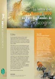 Lettre Natura 2000 - Parc naturel régional des Landes de Gascogne