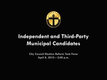 Independent and Third-Party Municipal Candidates - The Tulsa City ...