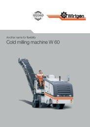 Cold milling machine W 60 - Attrans Commercials Ltd.