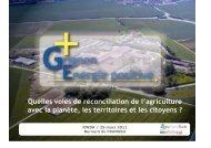 Quelles voies de réconciliation de l'agriculture avec la planète, les ...