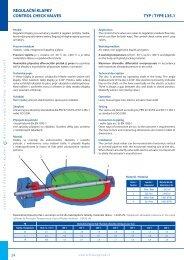 regulační klapky control check valves typ / type l35.1 - ARMATURY ...