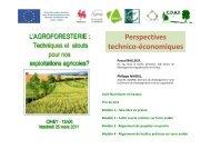 Perspectives technico-économiques - CDAF