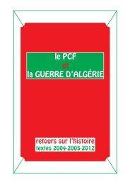 le pcf et la guerre d'algérie