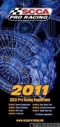 2011 PRR V06.indd - SCCA Pro Racing