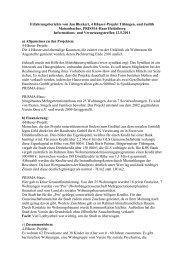 Erfahrungsberichte: 4 Häuser-Projekt und PRISMA-Haus