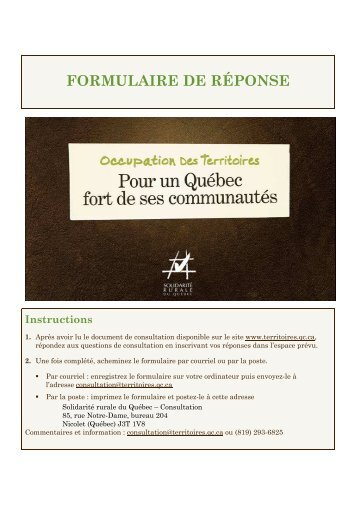 Formulaire consultation SRQ version finale - Table de concertation ...