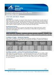 Through-Hardening Low Alloy Steel Bar 4340 - Atlas Steels