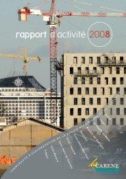 rapport d'activité 2008 - La Carène