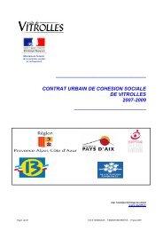 Contrat urbain de cohésion sociale de Vitrolles - CRPV-PACA
