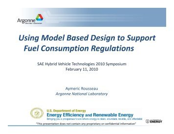 Using Model Based Design to Support Fuel ... - Autonomie