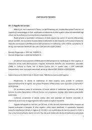 AMA Gara Organico Allegato 4 Capitolato Tecnico