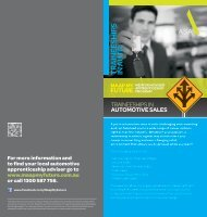 Automotive Sales - MAAP My Future