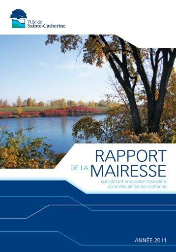 RappoRt maiResse - Ville de Sainte-Catherine