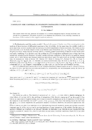 348 NuMEriCAl METHOds And PrOgrAMMing, 2003, VOl. 4 (http ...