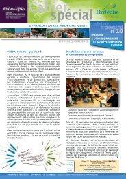 cahier spécial de la lettre n°10 - Syndicat Mixte Ardèche Verte