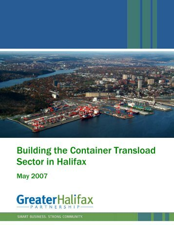 Building the Container Transload Sector in Halifax - Halifax Gateway