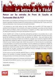Retour sur les estivales du Front de Gauche et l'université d ... - PCF